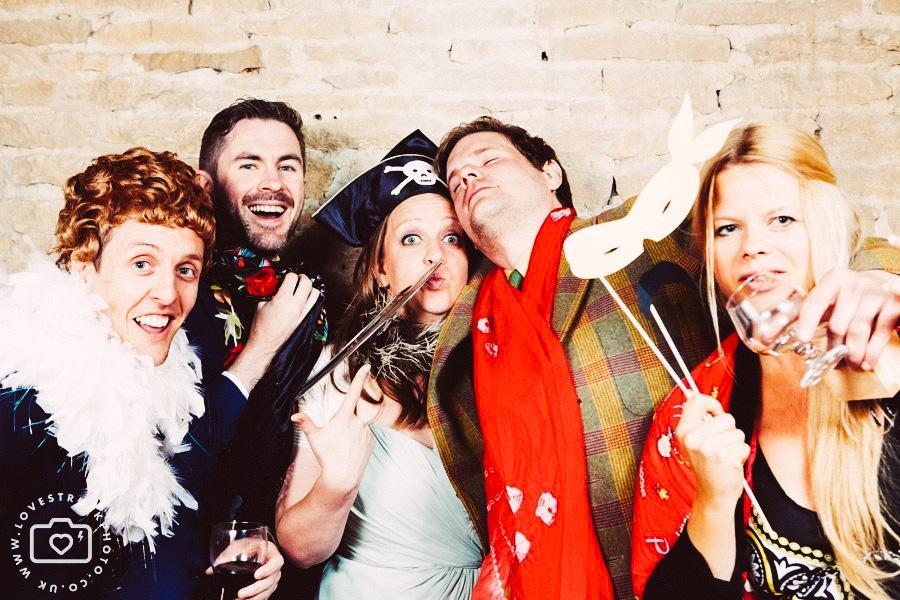 funny wedding photobooth, quirky wedding photobooth in cripps barn