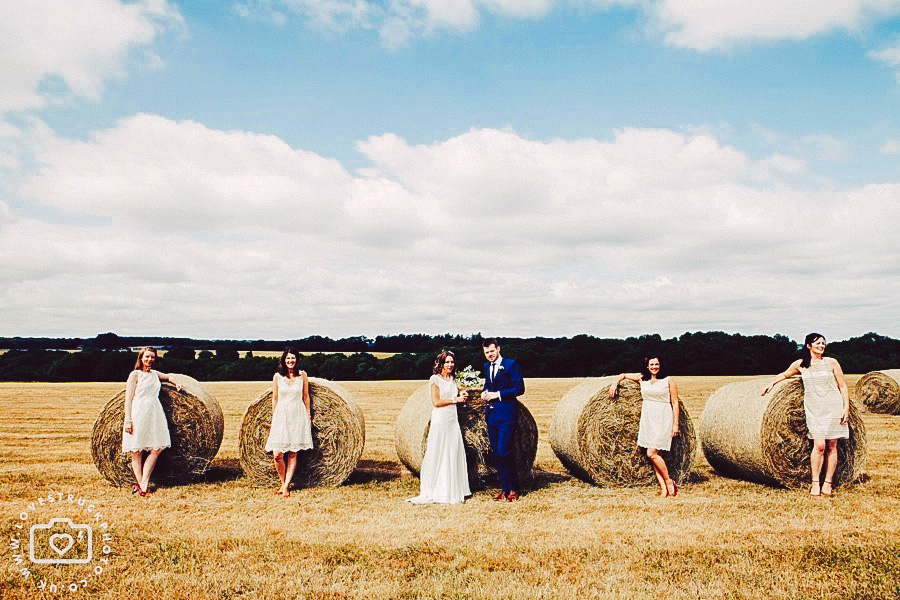 hay bales wedding photoshoot, country wedding photography oxfordshire