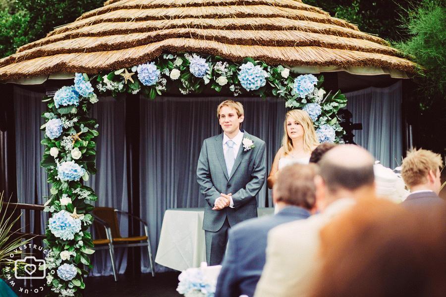 polhawn fort wedding, outdoor wedding ceremony, destination wedding photography, cornwall seaside wedding