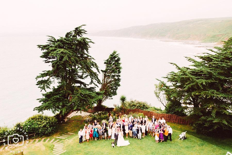 outdoor wedding cornwall