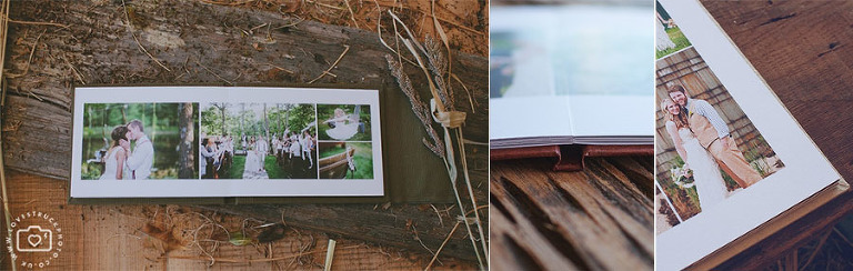 eco rustic unique wedding albums