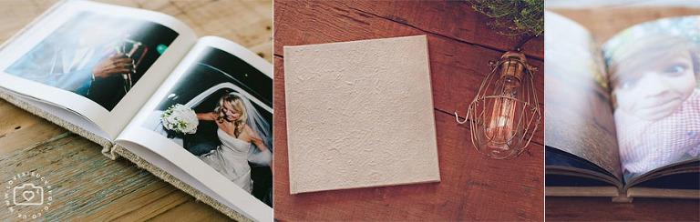 eco rustic wedding coffee table books
