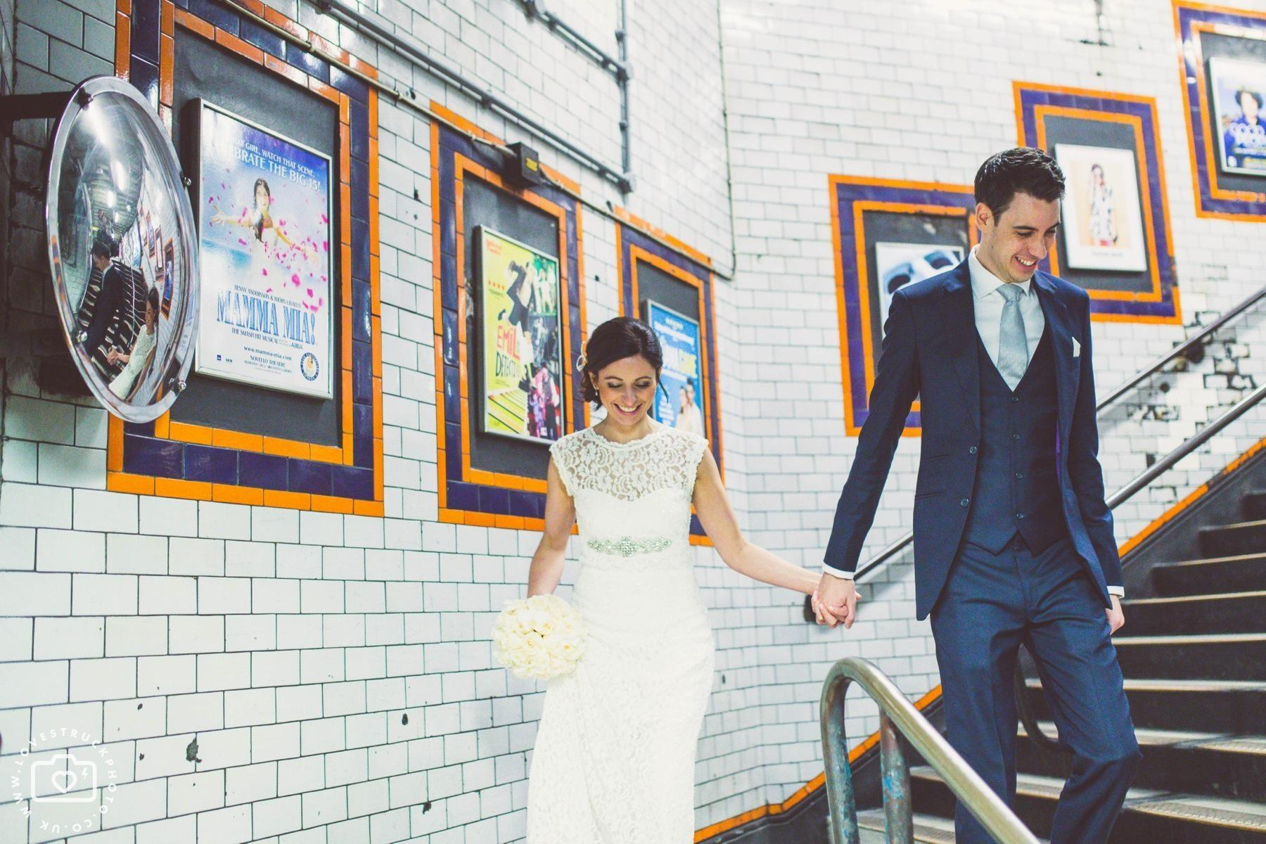 London Underground Bride and Groom