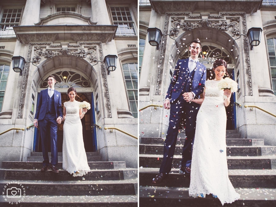 Ian marcella london st pancras wedding for Dresses for registry office wedding