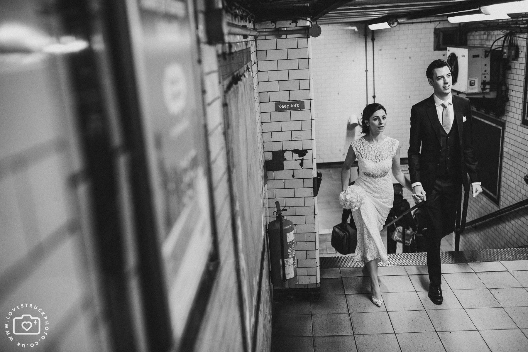 London Tube Wedding