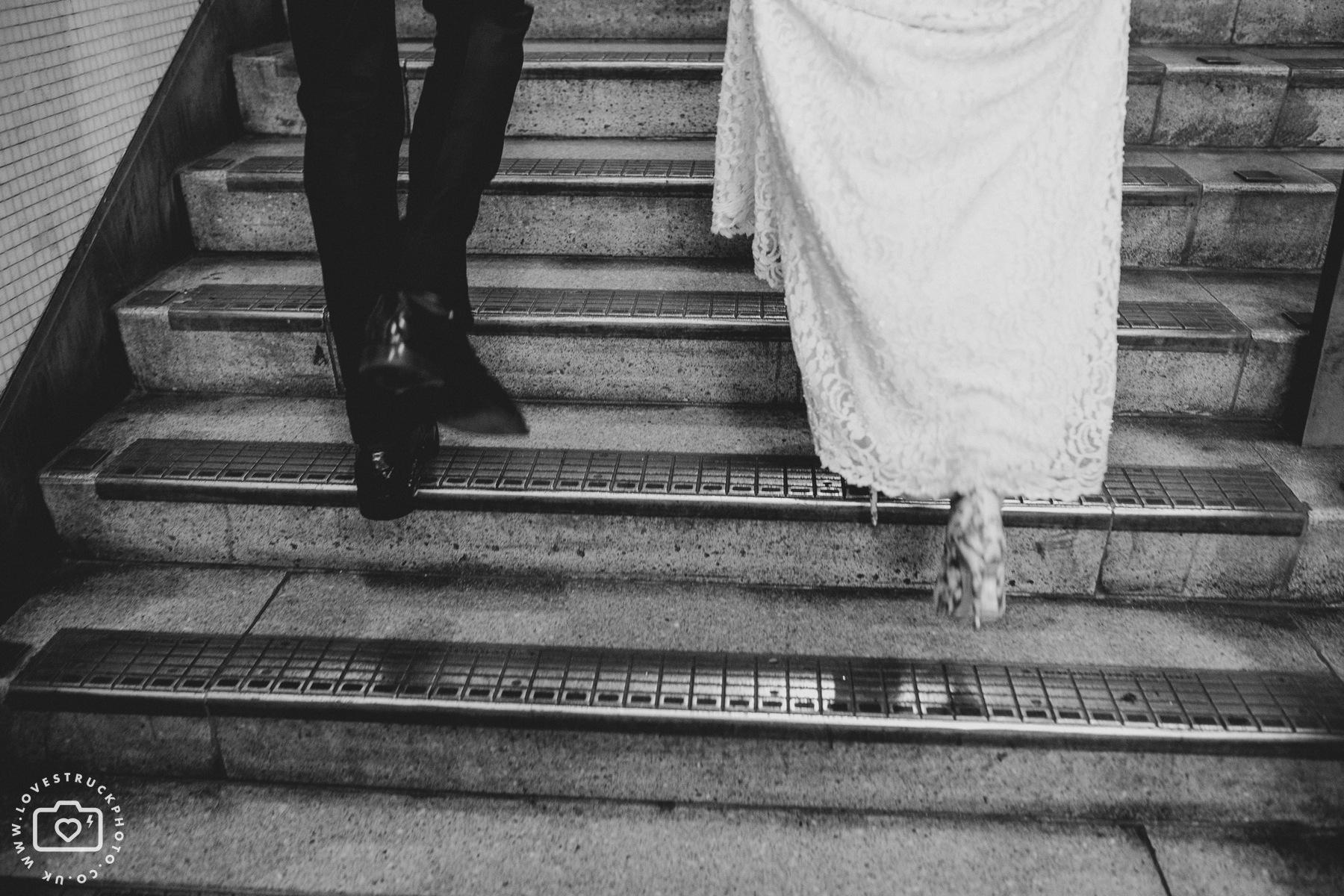 London Underground Wedding Photos, London Underground Bride And Groom