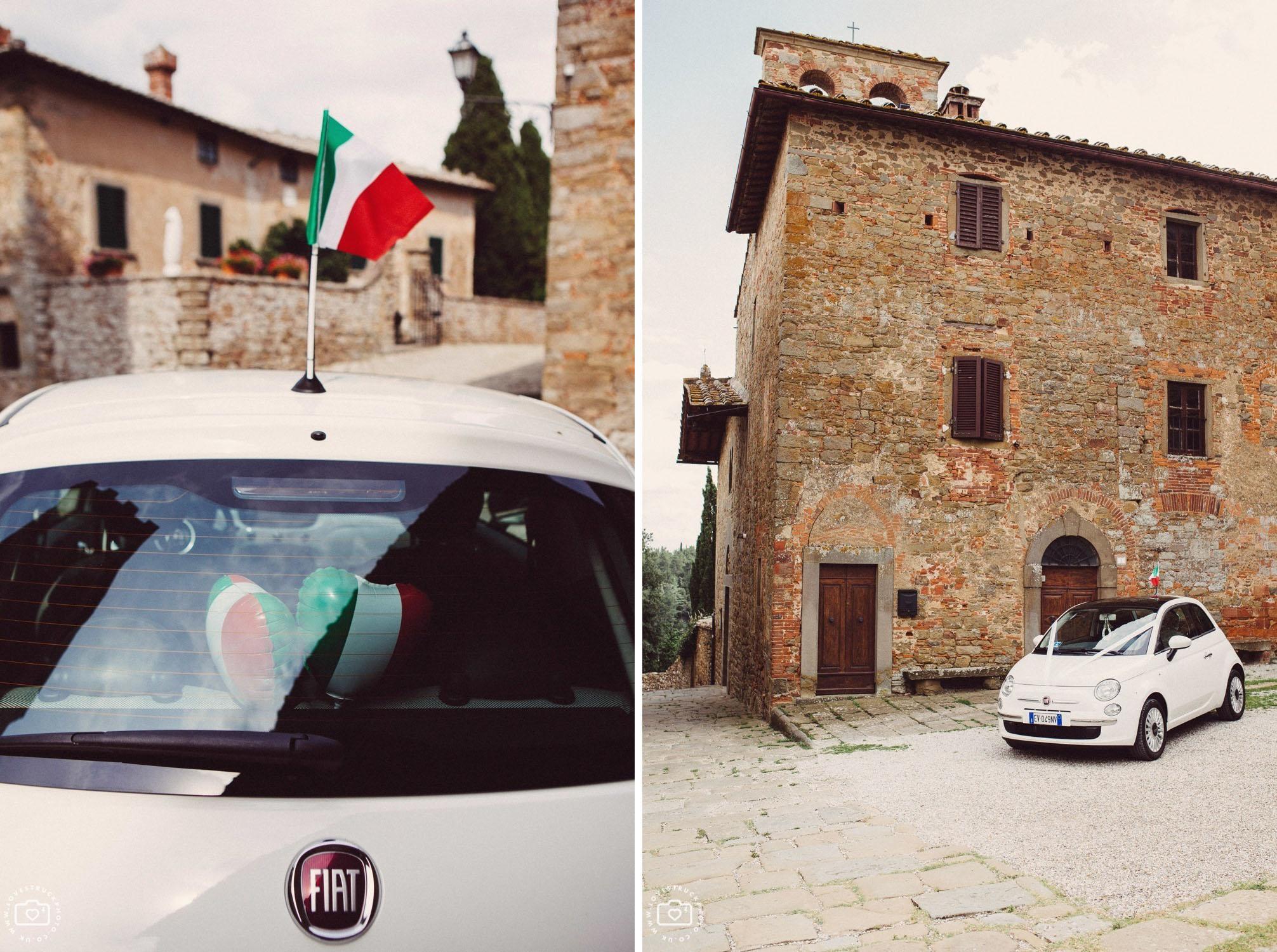 Bridal preparations in Castello Di Gargonza, Arezzo