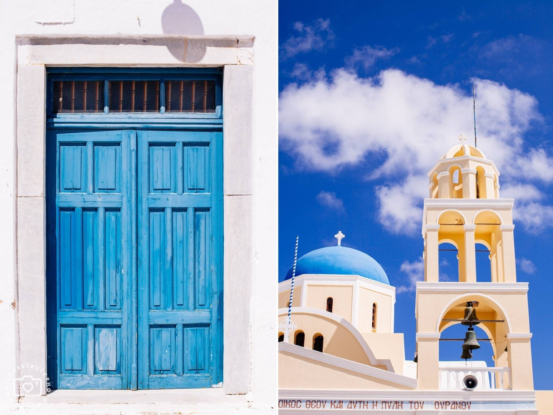 Destination Post Wedding Santorini Photoshoot