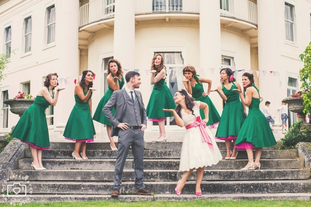 Parisa Amp Toms 50s Inspired Wedding In Sundridge Park Manor London LoveStruckPhoto Fun