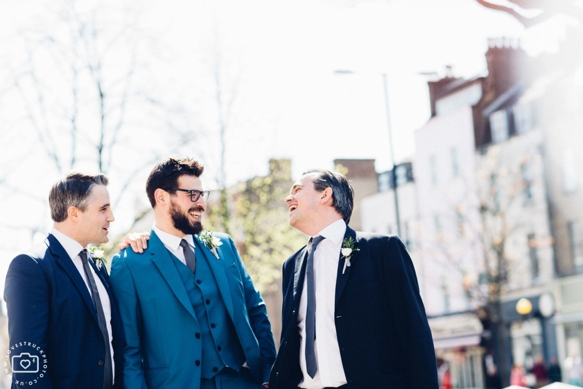 Modern London Wedding, Islington town hall wedding, quirky wedding photography
