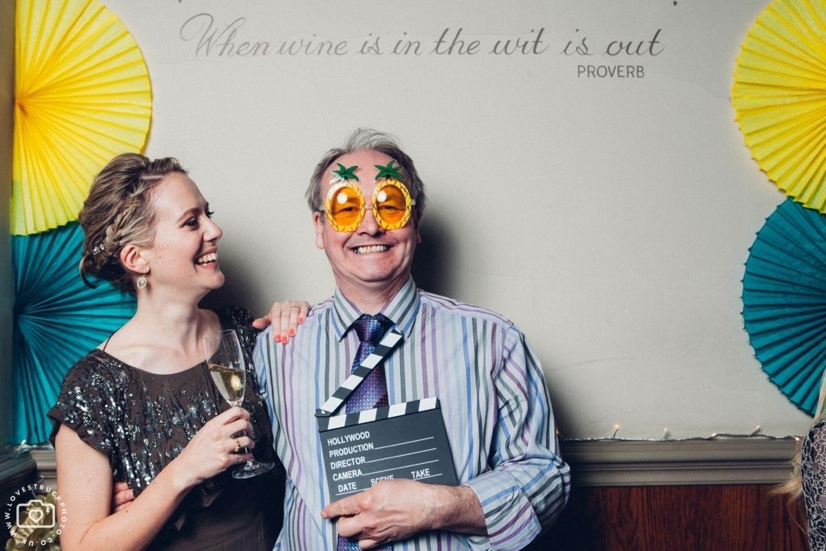 london pub wedding, funny wedding speeches, the canonbury pub wedding, wedding photobooth