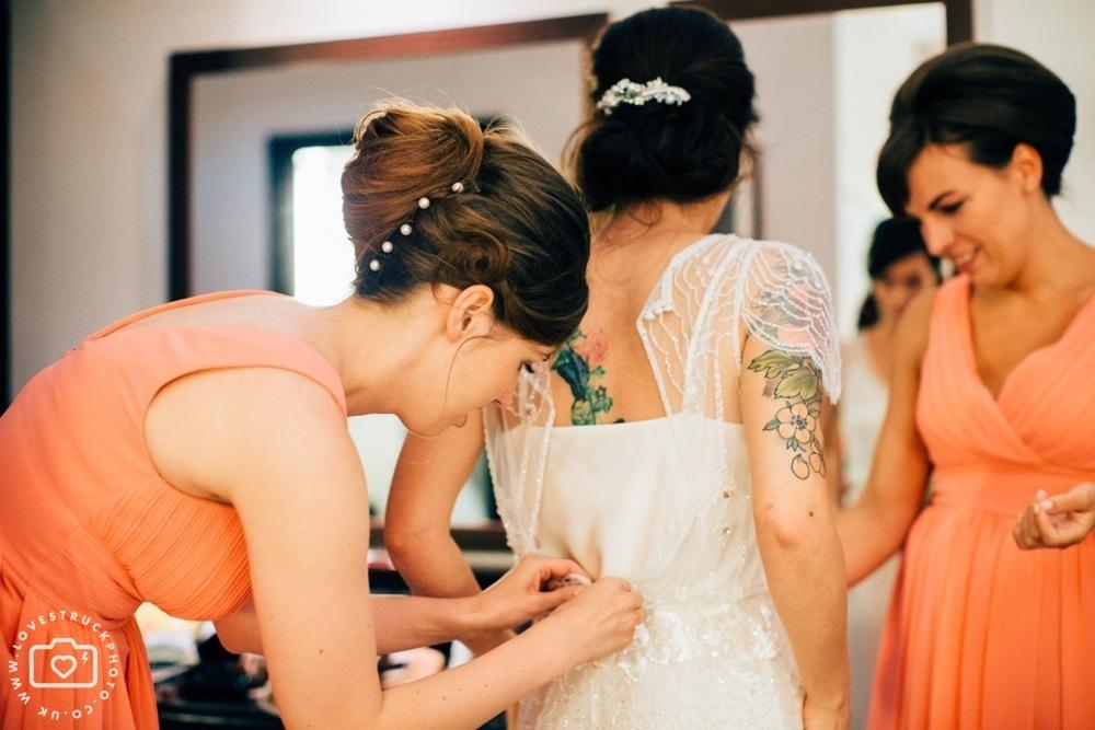 The Montcalme Hotel Wedding Preps, Bridal preparation photos, rock n roll wedding