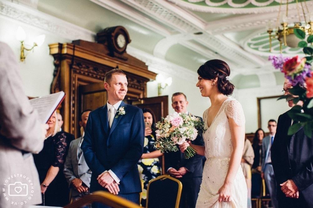 Islington Town Hall Wedding, Rock N Roll Wedding, alternative london wedding