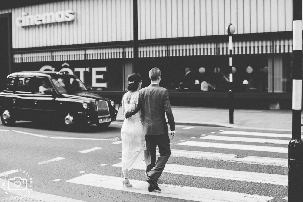 The Brewery Alternative Wedding, quirky wedding montcalm hotel london, alternative wedding couple, tattooed bride photos