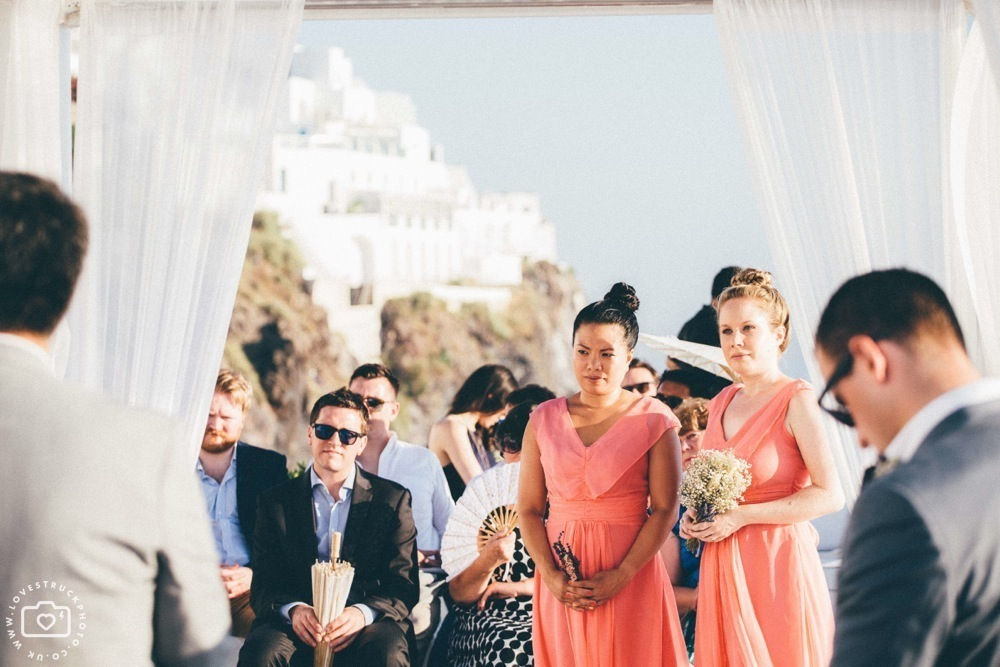 fira wedding ceremony, sunset ceremony santorini, destination wedding photographer, lovestruckphoto