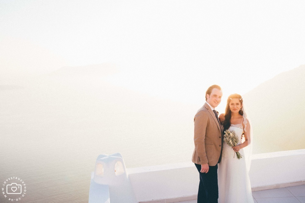 santorini vintage wedding, santorini sunset wedding portraits, santorini wedding photographer