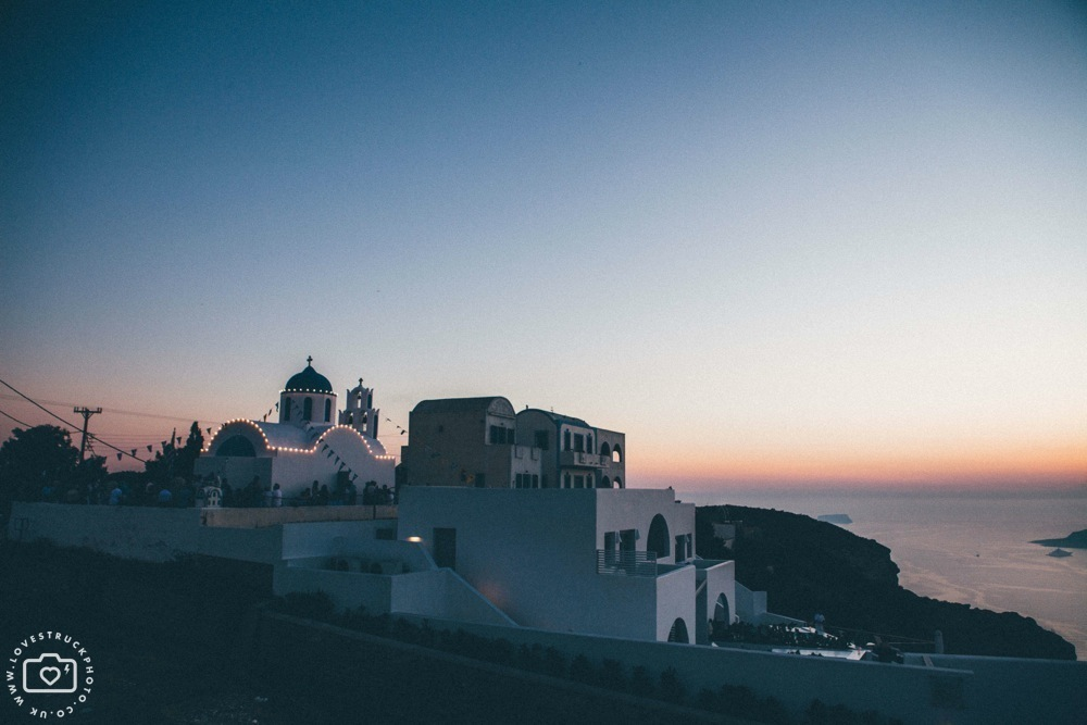 santorini sunset wedding, destination wedding photography, lovestruckphoto