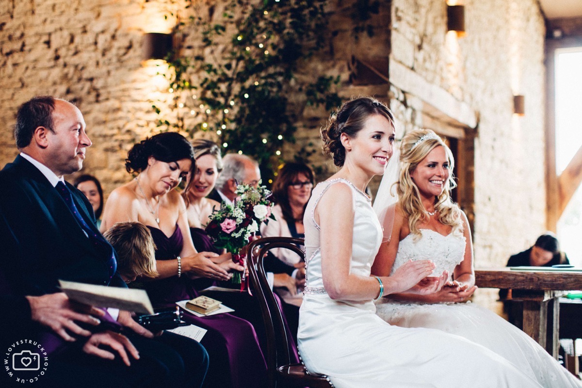 same sex wedding ceremony, barn wedding cotswolds, cripps barn wedding