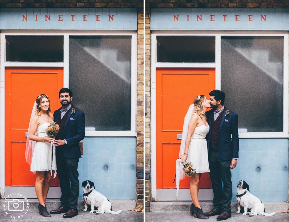 quirky wedding photoshoot in Marylebone, London
