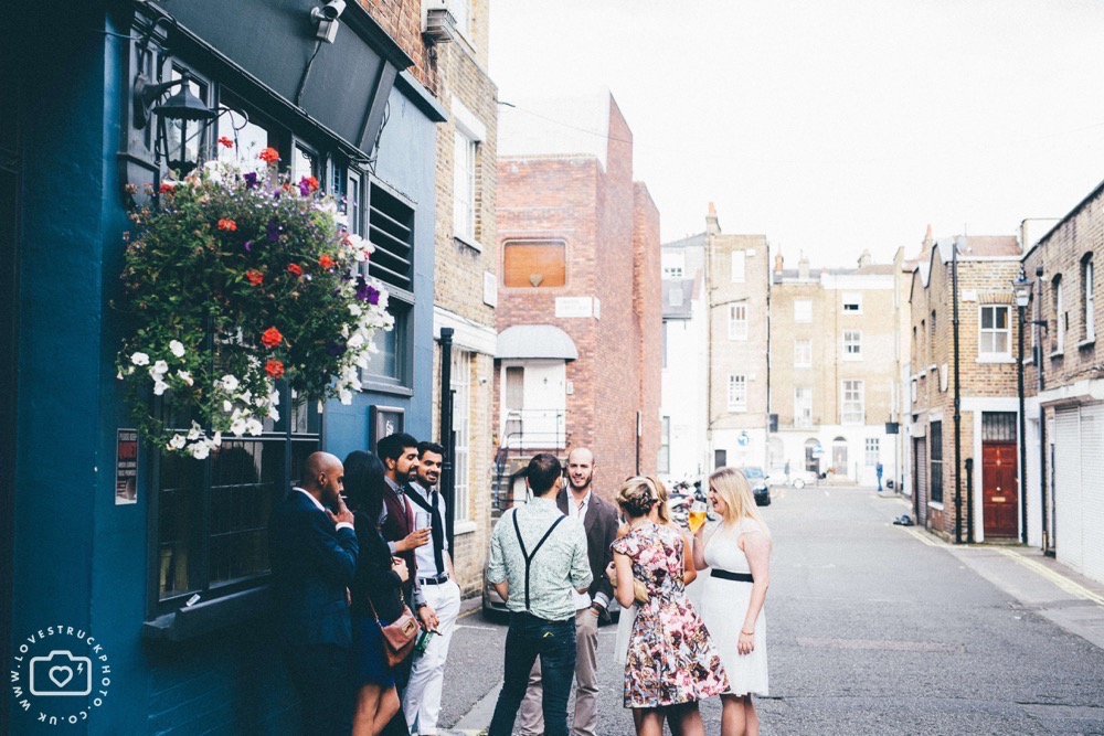 london pub wedding near Regents Park, quirky wedding pub venue in Marylebone