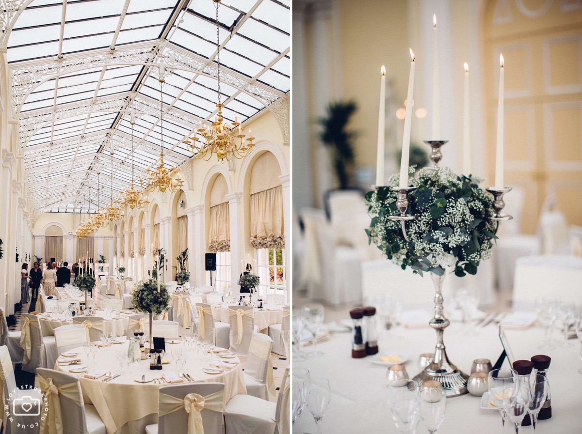 the orangery wedding reception, blenheim palace wedding