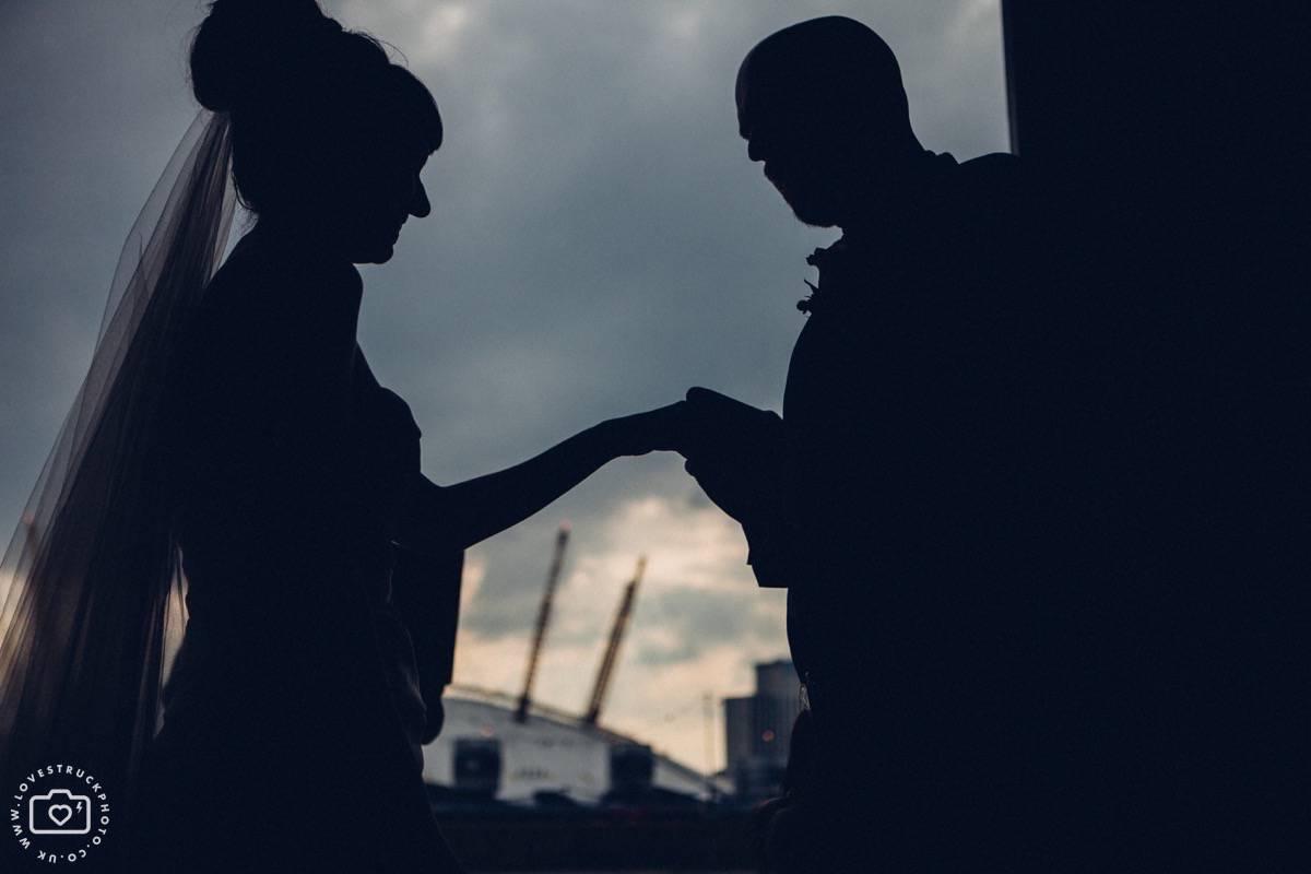 Trinity Buoy Wharf Wedding, Industrial London Wedding, Warehouse Wedding London, wedding ceremony industrial