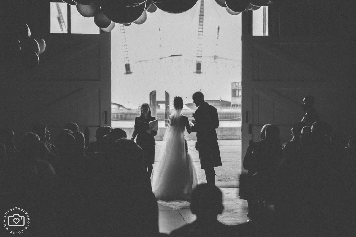 Trinity Buoy Wharf Wedding, Industrial London Wedding, Warehouse Wedding London