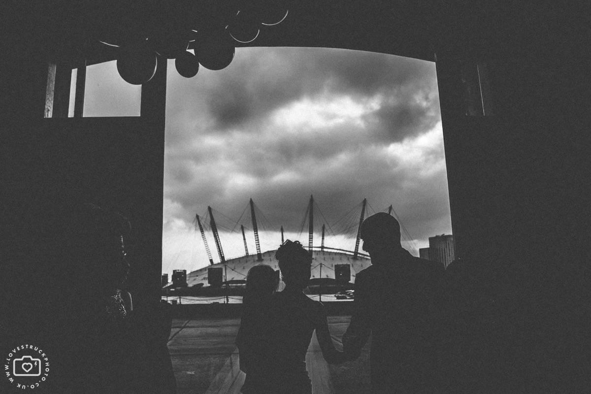 Trinity Buoy Wharf Wedding, Industrial London Wedding, Warehouse Wedding London, o2 arena wedding