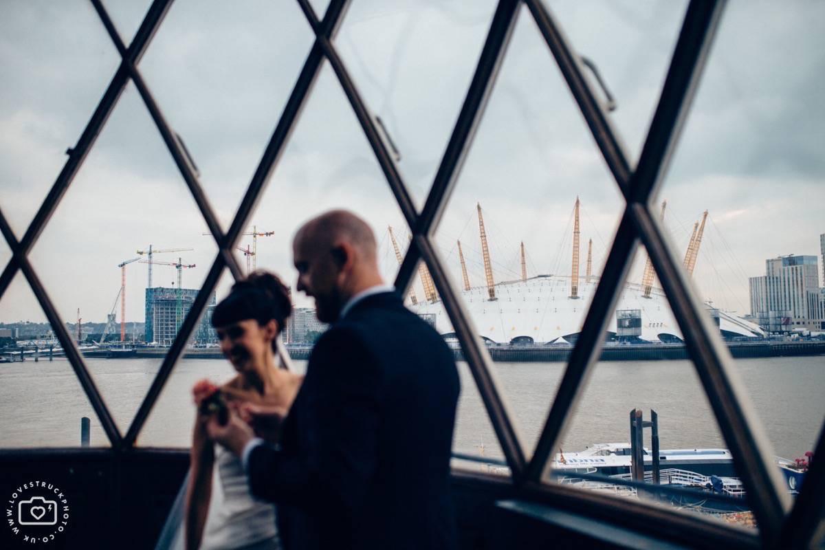 industrial wedding portraits, boho couple wedding portraits, scottish groom wedding photos, london wedding couple shots, trinity buoy wharf wedding portraits