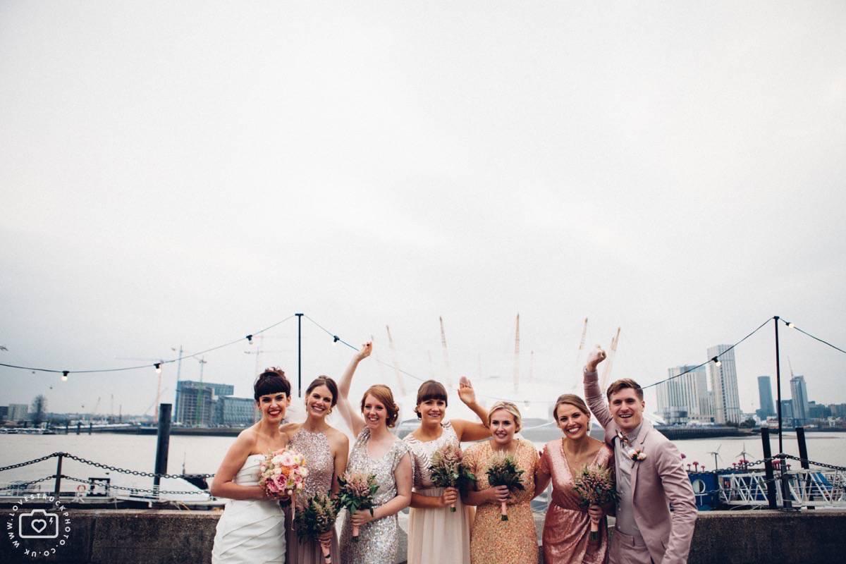 fun wedding in trinity buoy wharf london
