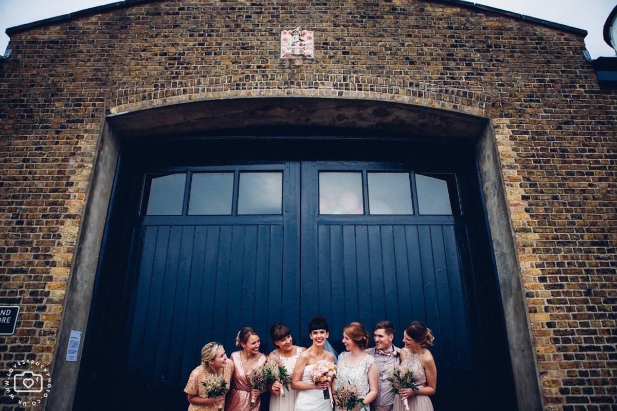 fun wedding bridesmaids photography, trinity buoy whard fun wedding