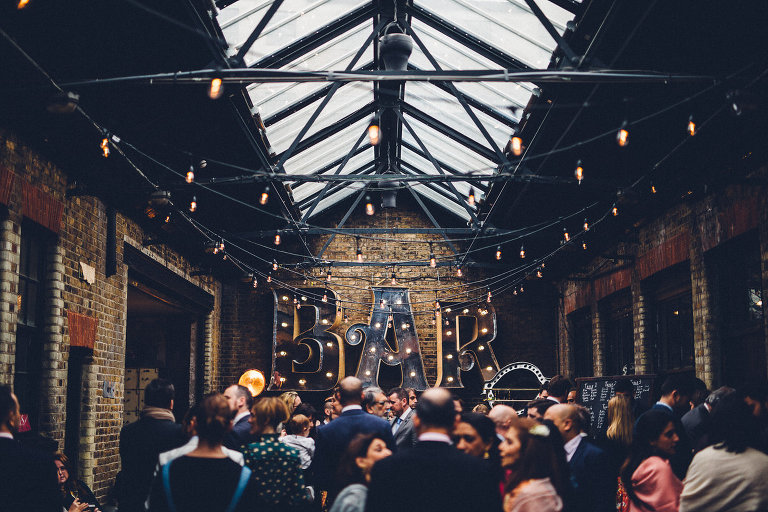 MC Motors Wedding, Hipster Wedding, Industrial Warehouse Wedding, East London