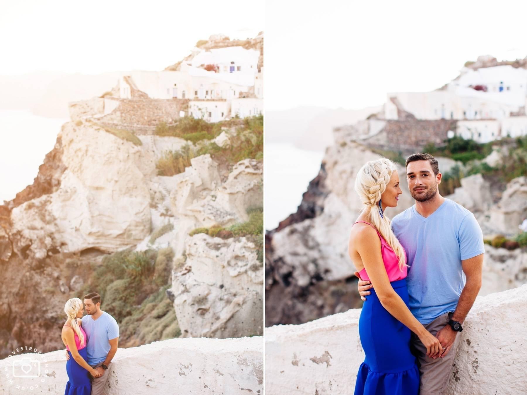 Santorini Oia Portrait Post Wedding Shoot
