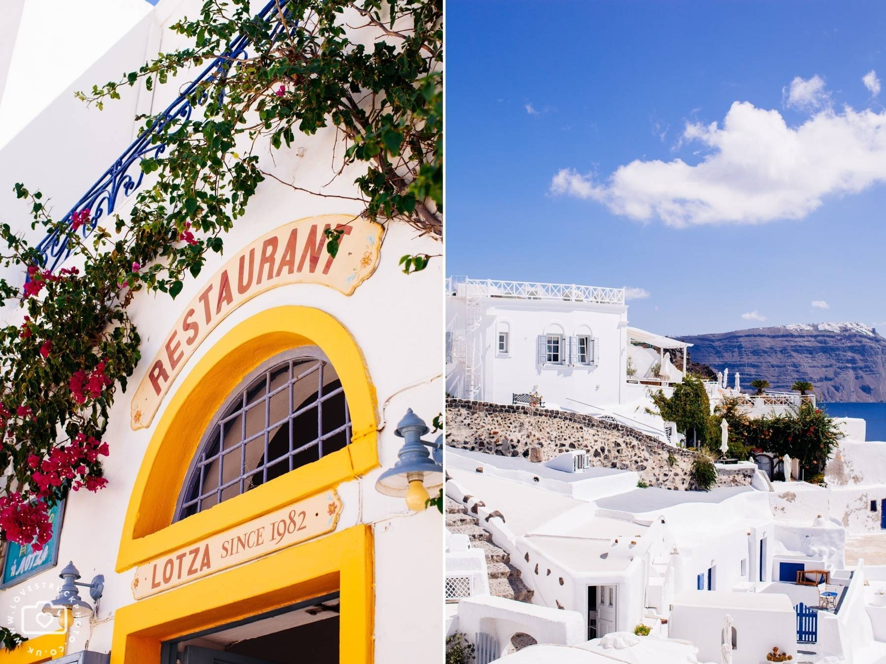 Destination Santorini Portrait Photoshoot