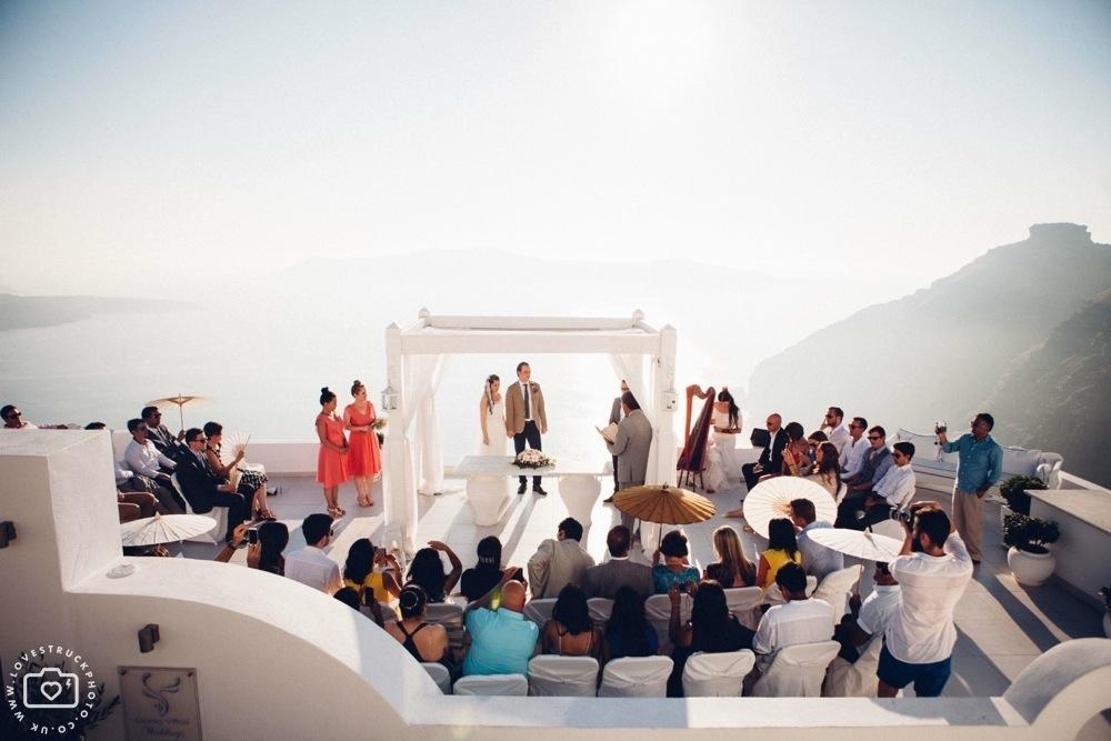 fira wedding ceremony, sunset ceremony santorini, destination wedding photographer, lovestruckphoto