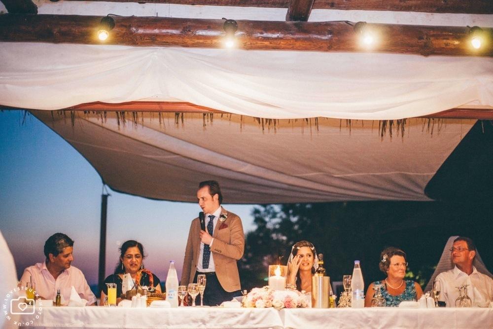 theros wave bar santorini wedding, wedding speeches theros wave bar