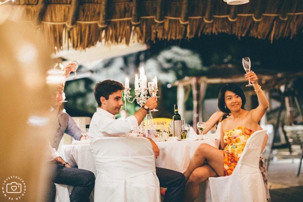 theros wave bar santorini wedding reception