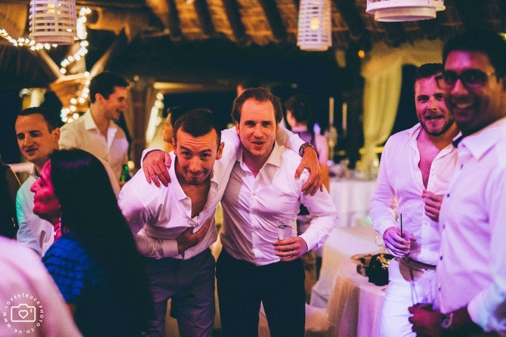 Theros wave bar santorini wedding dancing