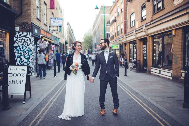 Brick Lane East London Wedding Portraits