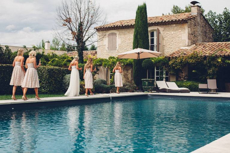 Provence Destination Wedding France, Bridesmaids Getting Ready